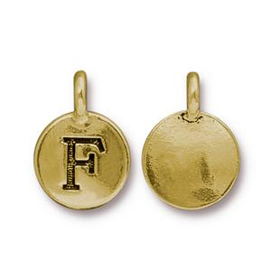 """F"" Charm Assorted Finishes"