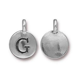 """G"" Charm Assorted Finishes"