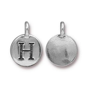 """H"" Charm Assorted Finishes"