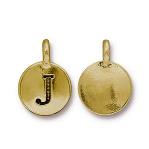 """J"" Charm Assorted Finishes"