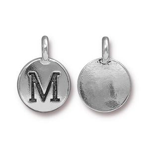 """M"" Charm Assorted Finishes"