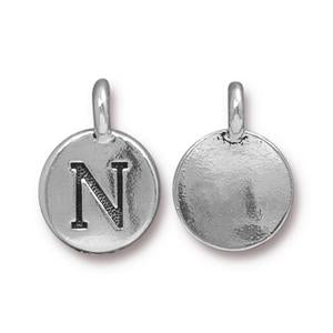 """N"" Charm Assorted Finishes"