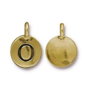 """O"" Charm Assorted Finishes"
