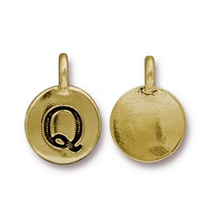 """Q"" Charm Assorted Finishes"