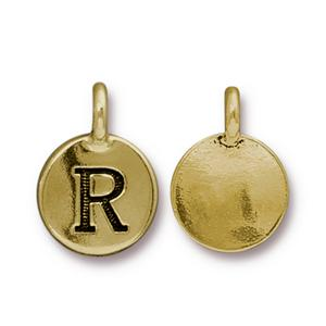 """R"" Charm Assorted Finishes"