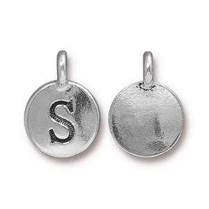 """S"" Charm Assorted Finishes"