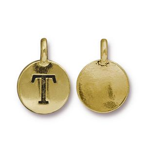 """T"" Charm Assorted Finishes"