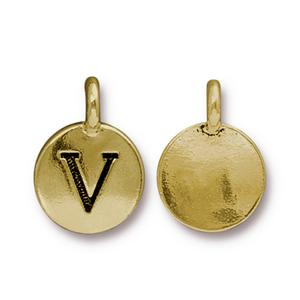 """V"" Charm Assorted Finishes"