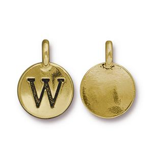 """W"" Charm Assorted Finishes"