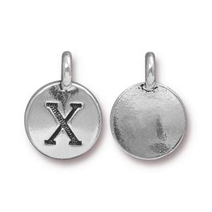"""X"" Charm Assorted Finishes"