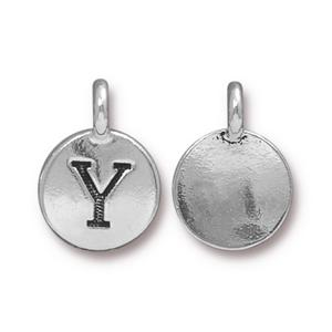 """Y"" Charm Assorted Finishes"