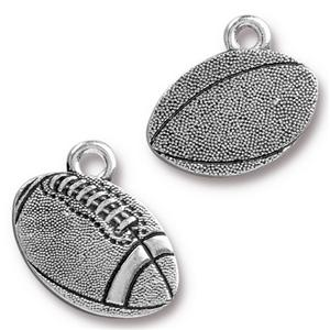 Football Charm Assorted Finishes