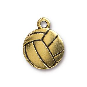 Volleyball Charm Assorted Finishes