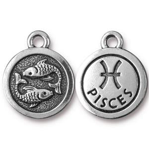 Pisces Charm Assorted Finishes