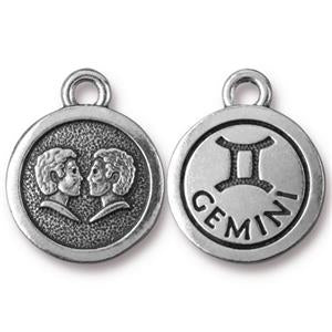 Gemini Charm Assorted Finishes