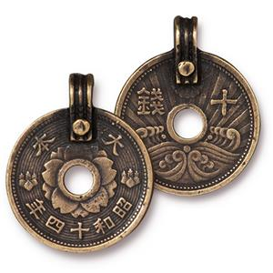 Asian Coin Pendant Assorted Finishes