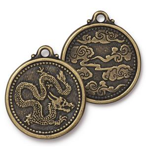 Dragon Coin Pendant Assorted Finishes