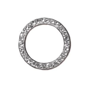 Large Hammertone Ring Link Assorted Finishes