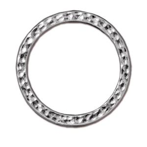 "1"" Hammertone Ring Link Assorted Finishes"