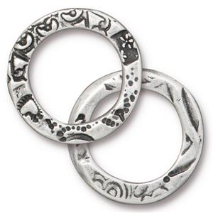 "Flora 3/4"" Ring Link Assorted Finishes"