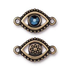 Evil Eye Link Metallic Blue Assorted Finishes