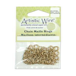 Artistic Wire Brass Chain Maille Rings