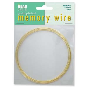 MEMORY WIRE NECKLACE GOLD