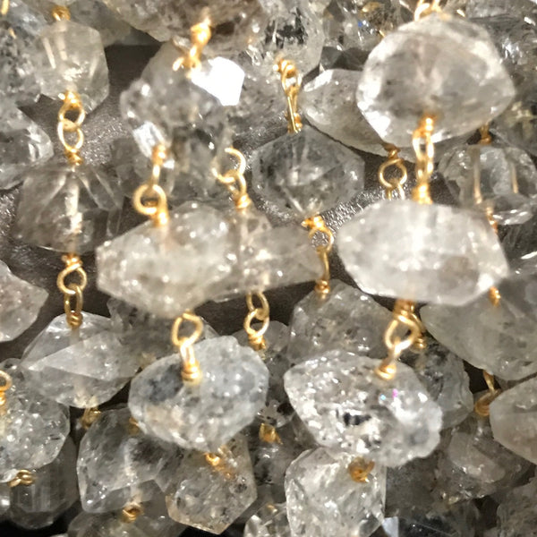 Beaded Chain - Herkimer Diamond