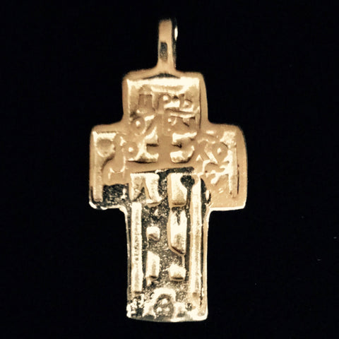 Pendant - Cross Gold Plated Brass