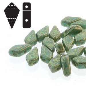 KITE BEADS TURQUOISE GREEN LUMINESCENT