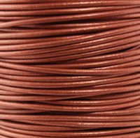 Leather Cord #043 Metallic Copper Assorted