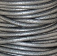 Leather Cord #047 Metallic Grey Assorted
