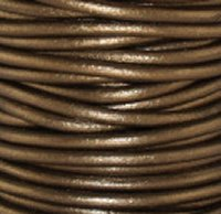 Leather Cord #052 Metallic Kansa Assorted