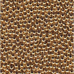 Heavy Metal Seed Beads 24KT Gold Plate