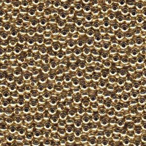 Heavy Metal Seed Beads Yellow Brass