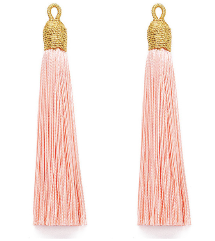 Tassel Light Peach with Gold Cording Top