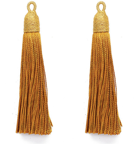 Tassel Mustard Gold with Gold Cording Top
