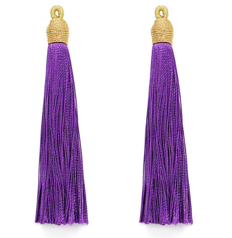 Tassel Purple with Gold Cording Top