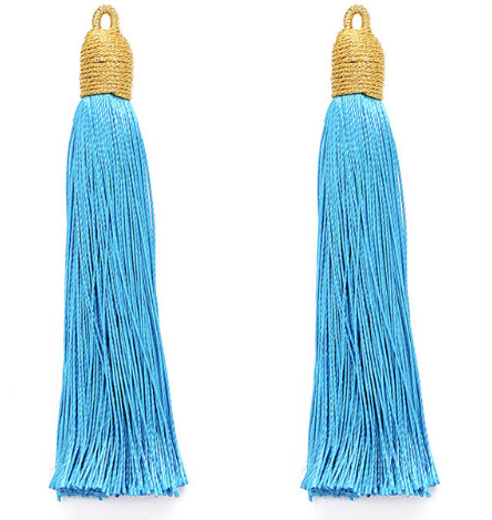 Tassel Blue with Gold Cording Top