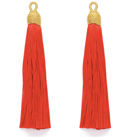 Tassel Red with Gold Cording Top
