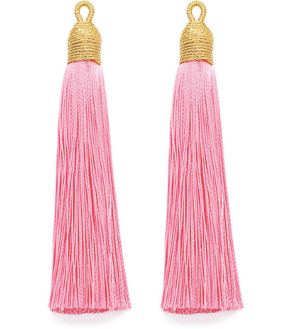 Tassel Pink with Gold Cording Top
