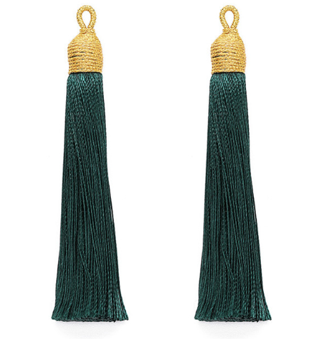 Tassel Soft Emerald with Gold Cording Top