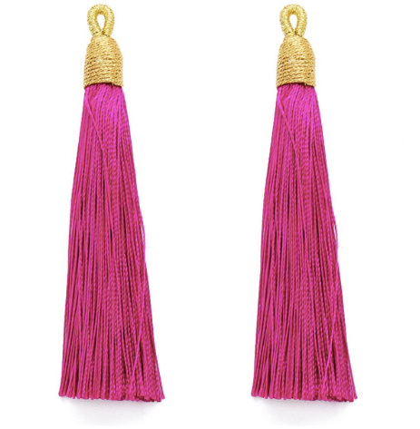 Tassel Rose with Gold Cording Top