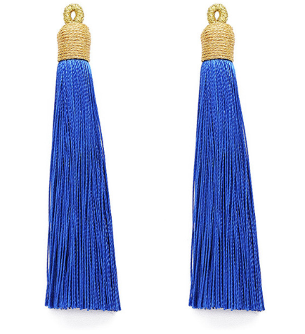 Tassel Sapphire with Gold Cording Top