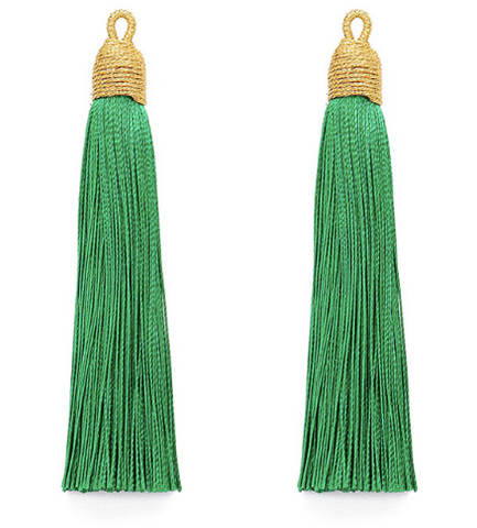 Tassel Green with Gold Cording Top