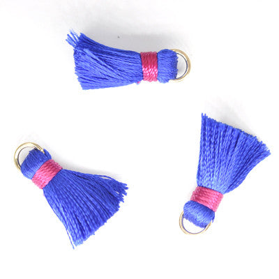 Tassel 20 mm Blue w/ Red