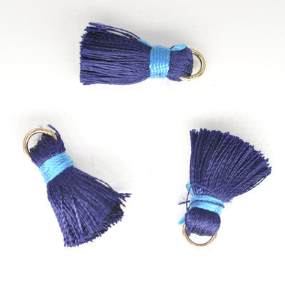 Tassel 20 mm Dark Blue w/ Lt Blue