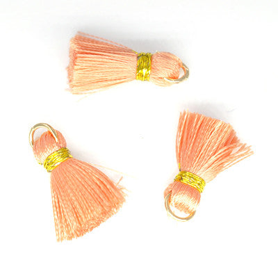 Tassel 20 mm Peach w/Gold