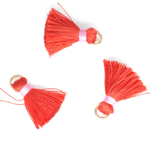 Tassel 20 mm Red w/ Pink