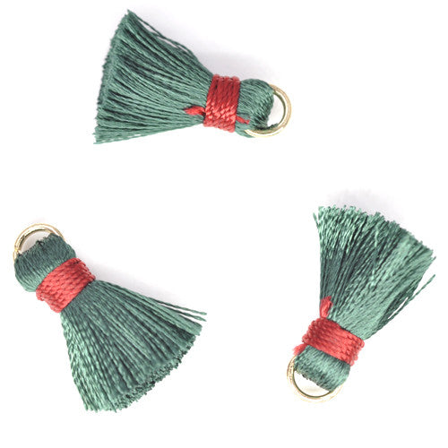 Tassel 20 mm Green w/ Red